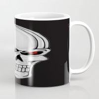 metallic Mugs featuring Metallic Skull by J&C Creations