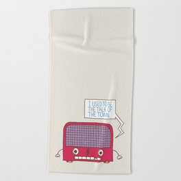 Radio Static Beach Towel
