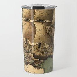 Antique Map of France Travel Mug