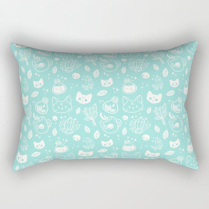 Herb Witch // Green Pastel Rectangular Pillow