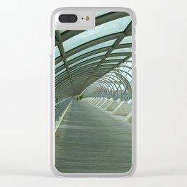 Third millenium bridge,in feature town Zaragoza Clear iPhone Case