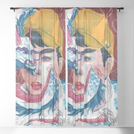 Merging Sheer Curtain