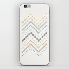 Mixed Zig Zag - in Marigold iPhone & iPod Skin