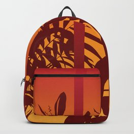 Leaves at sunset Backpack