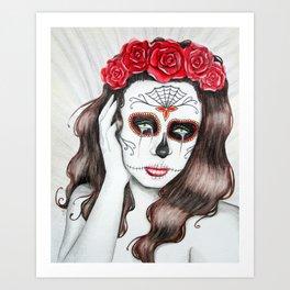 Lágrimas por mi amante muerto Art Print