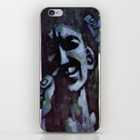 vonnegut iPhone & iPod Skins featuring Vonnegut - Mother Night by Neon Wildlife