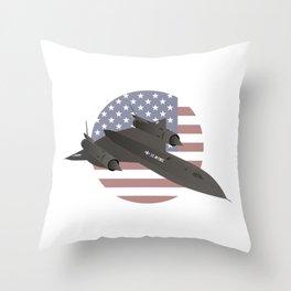 American SR-71 Blackbird Reconnaissance Aircraft Throw Pillow