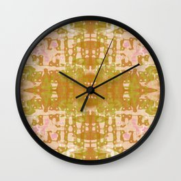 Olive Tie Dye Jacobs Ladder Wall Clock