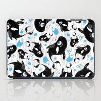 killer whale iPad Cases featuring Cute Killer Whale by markmurphycreative