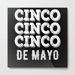Cinco De Mayo Mexican Guitar Metal Print