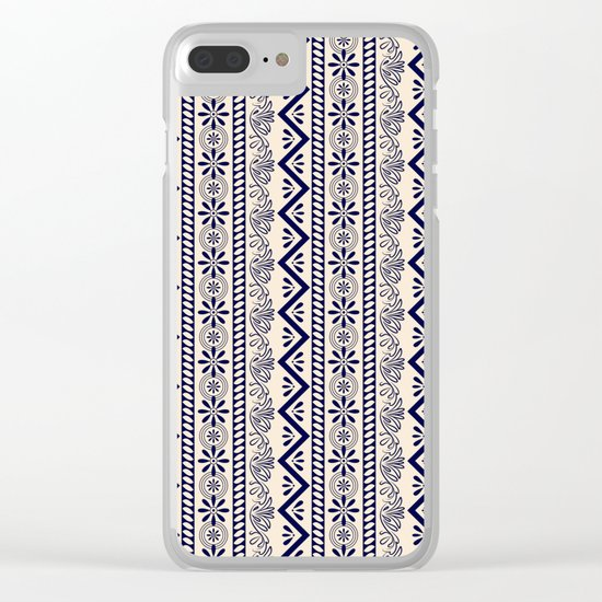 pattern art curtain Clear iPhone Case