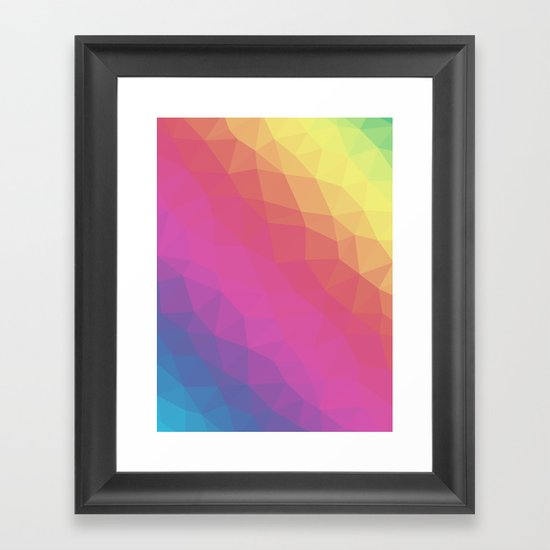 Spectrum Tris Framed Art Print