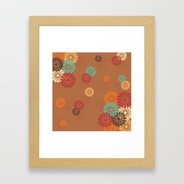 Japanese Culture -  Vintage flower Pattern Framed Art Print