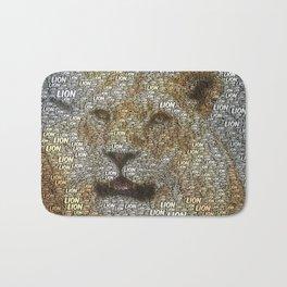 WordArt Lion Bath Mat