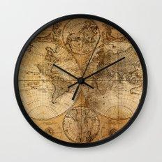 World Map 1746 Wall Clock