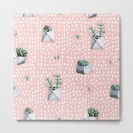 Cactus Pattern 04 Metal Print