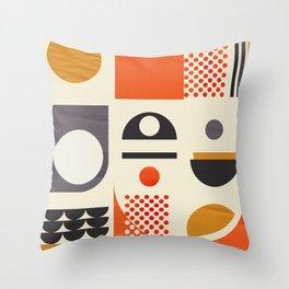 Mid-century no1 Throw Pillow