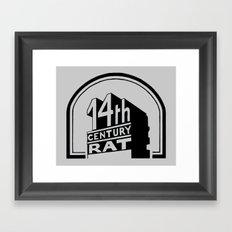FOURTEENTH CENTURY-RAT Framed Art Print