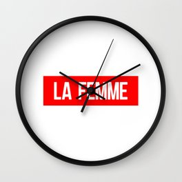 La Femme Wall Clock