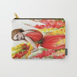 Hollyhock Fields Carry-All Pouch