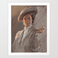Maggie Smith Gives the Finger Art Print