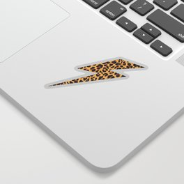 Wild Thing Leopard Lightning Bolt Sticker