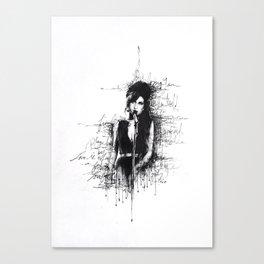 Amy Sketch Canvas Print