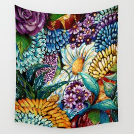 Flowers and Wild Nature Wall Tapestry