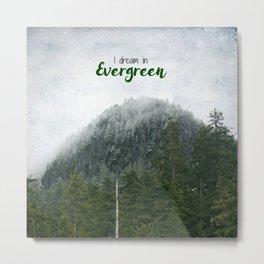 I Dream In Evergreen Metal Print