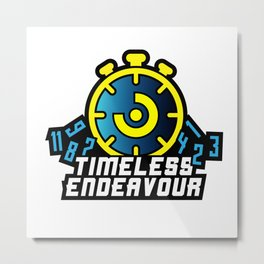 TE Logo Yellow/Blue Metal Print