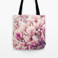 magnolia Tote Bags featuring Magnolia by Juste Pixx Photography