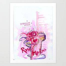 Paloma's Rose Martinis Art Print
