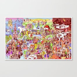 Here's to 2016! Mashup Illustration Collage Canvas Print