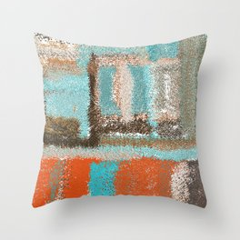Southwestern Colors Design Throw Pillow