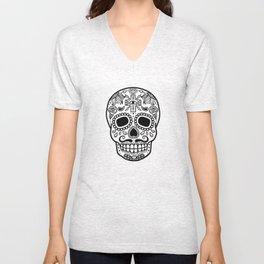 Mexican Skull - White Edition Unisex V-Neck