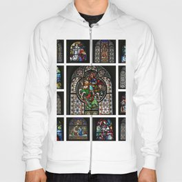 Stained Glass Windows Collage Hoody