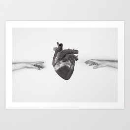 reach out Art Print