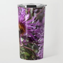 Busy Bee on a Violet Flower Travel Mug