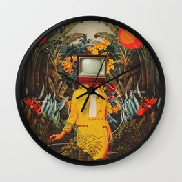 She Came from the Wilderness Wall Clock