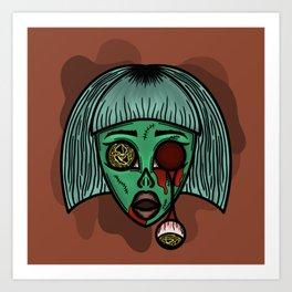 Zonnie The Zombie Art Print