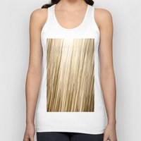 gold glitter Tank Tops featuring Gold Glitter 0875 by Cecilie Karoline
