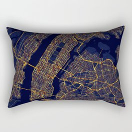 New York City At Night Rectangular Pillow