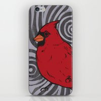 cardinal iPhone & iPod Skins featuring Cardinal by turddemon