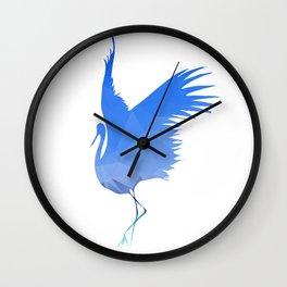 Flying bird. Vector illustration. Wall Clock