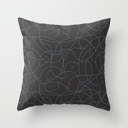 Floating souls Throw Pillow