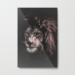 LION - PAINTING - PHOTOGRAPHY Metal Print