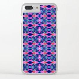 kaleidoscope art smears Clear iPhone Case