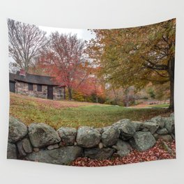 Babson Museum on a rainy October day 10-24-18 Wall Tapestry