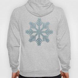 Blue Glitter Snowflake Hoody