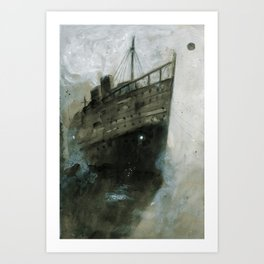 The Upper Berth Art Print